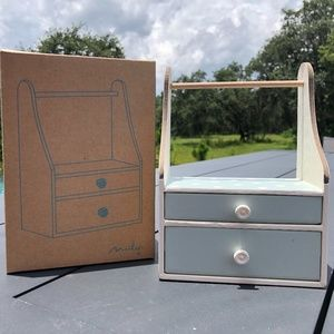New Maileg 2 Drawer Wardrobe Dresser with Hangers